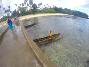 Arriving at the jetty to Kiriwina Island, Papua New Guinea