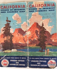 The 1947 roadmap. Where in CA are these red mountains?