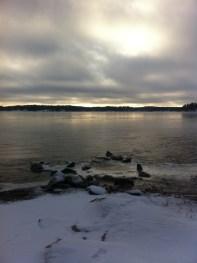 View towards the Baltic Sea from Strandvägen, Österåker, Sweden