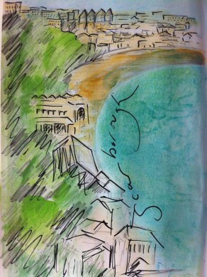 South Bay in Scarborough from my England Sketchbook