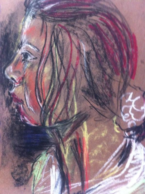 Portrait of Karol, my sister.