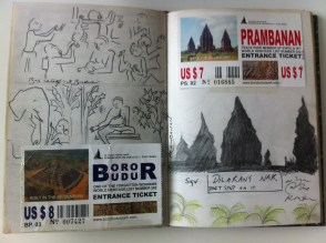Sketches from Prambanan from my Java sketchbook