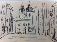 Stare Miasto in Warsaw from my Baltic States Sketchbook