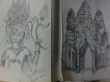Page from my Cambodia sketchbook.