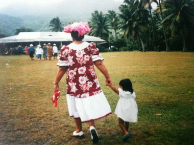 Church outing on Mother'€™s Day in Rarotonga, the Cook Islands.