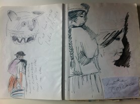 Page from my South American sketchbook, Lake Titicaca