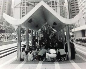 Sunday Picnic at the HSBC building in Central Hong Kong