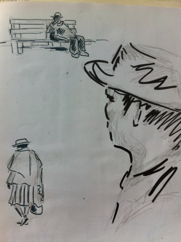 Sketches on the street in Sucre, Bolivia, from my South American Sketchbook