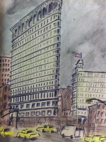 The Flat Iron Building in New York from my United States of America Sketchbook
