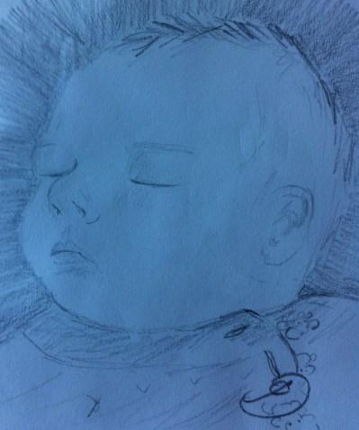 Baby Frida sleeping