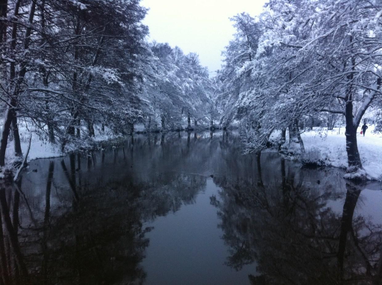 Winter along Åkers Canal in Åkersberga, Sweden