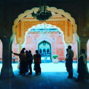 The pink palace in Jaipur, India