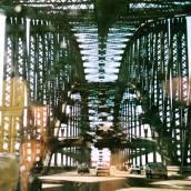 Driving across Sydney Harbour Bridge