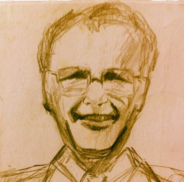 A sketch of my dad, David Frank William Davies