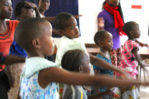 Dancing on International Day of the Girl Child, at Isamilo International School, Mwanza, Tanzania.