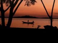 Sunrise over Lake Victoria near Mwanza, Tanzania.