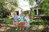 My children monkeying around in our back garden in Mwanza, Tanzania