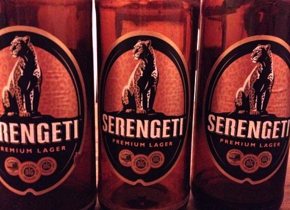 Serengeti Beer bottles