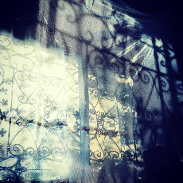 Shadows through the curtain - at our house in Dar Es Salaam, Tanzania