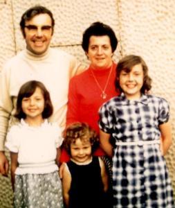 David, Vera, Karol, Ali and Lynne in 1978