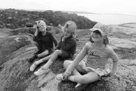 Lottie, Leon and Frida on the Dancing Rocks in Mwanza, Tanzania