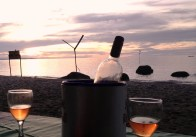 Sundowners on the banks of Lake Victoria