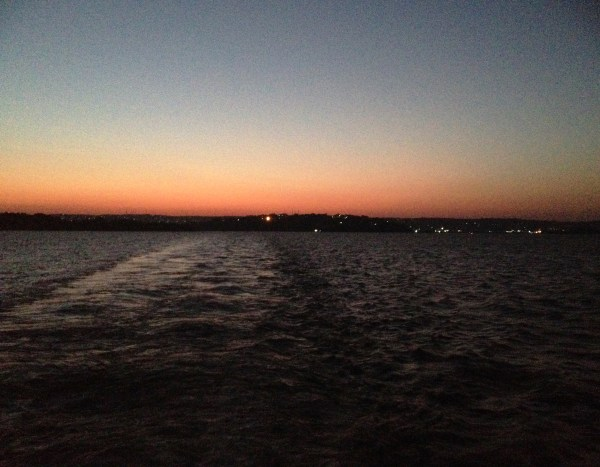 Sunrise on the ferry crossing Lake Victoria.