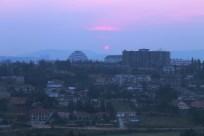 Sunset over Kigali from the hotel room, Rwanda