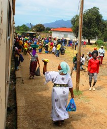 Vendors at Morogoro station - On the train from Mwanza to Dar Es Salaam, Tanzania.
