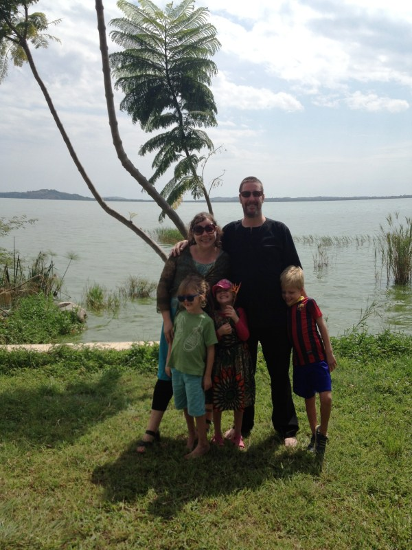 Happy New Year 2016 from Ali, Mark, Lottie, Leon and Frida at Lake Victoria, Mwanza, Tanzania