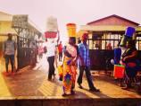 Early morning outside Kivukoni Fish Market in Dar Es Salaam, Tanzania