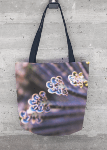 Purple Euphorbia bag design for Vida