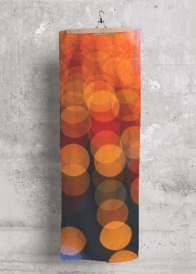 Orange Lights scarf design for Vida