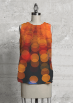 Orange Lights top design for Vida