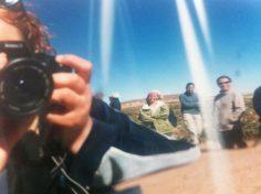 Wing-mirror selfie in the Atacama Desert, Bolivia