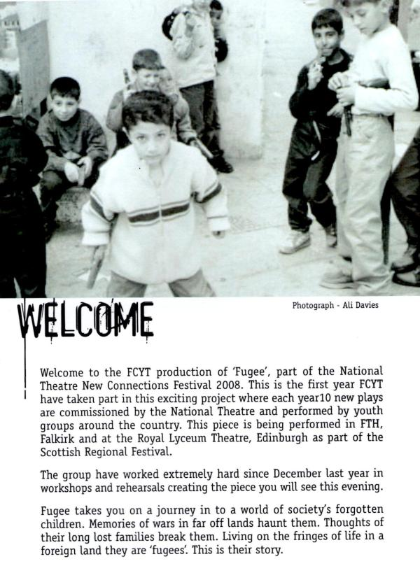 My photograph in Fugee Programme
