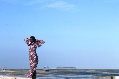 Girl on Matemwe Beach, Zanzibar