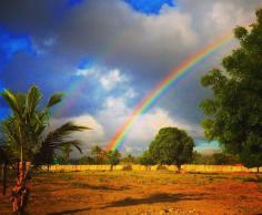 Rainbow over Kigamboni, Dar Es Salaam
