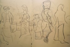 My sketch from Tanzanian market