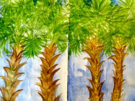 Palm Trees from my Tanzanian sketchbook