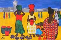 Market scene in Dar Es Salaam, Tanzania