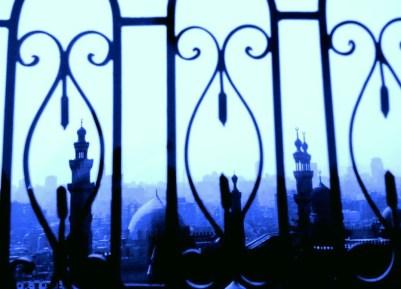 Cairo through the railings of the Citadel, Egypt.