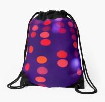 Indigo and Orange Blurred Lights - drawstring bag for RedBubble