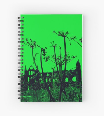 Whitby Abbey in Green - spiral notebook