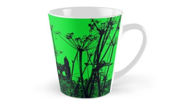 Whitby Abbey in Green - mug