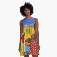 Street Market in Dar Es Salaam - A-line dress