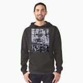 Russian Graffiti on the Arbat - hooded top for RedBubble