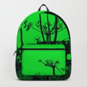 Whitby Abbey in Green - backpack for Society6