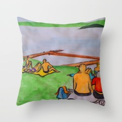 Dreaming of lazy summer afternoons on the banks of Lake Mälaren - throw pillow