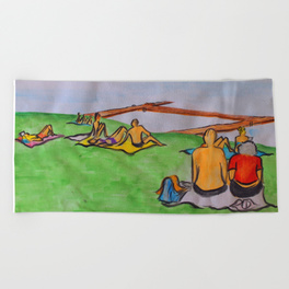 Dreaming of lazy summer afternoons on the banks of Lake Mälaren - beach towel